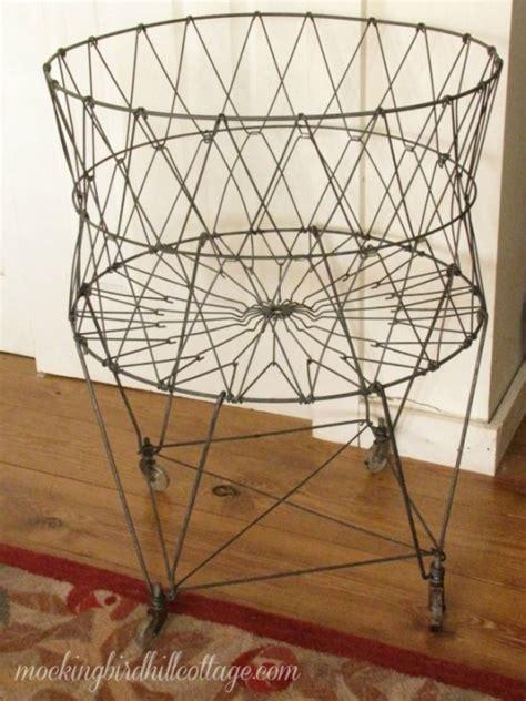 Kindwer vintage wire laundry basket hamper jpg 540x720